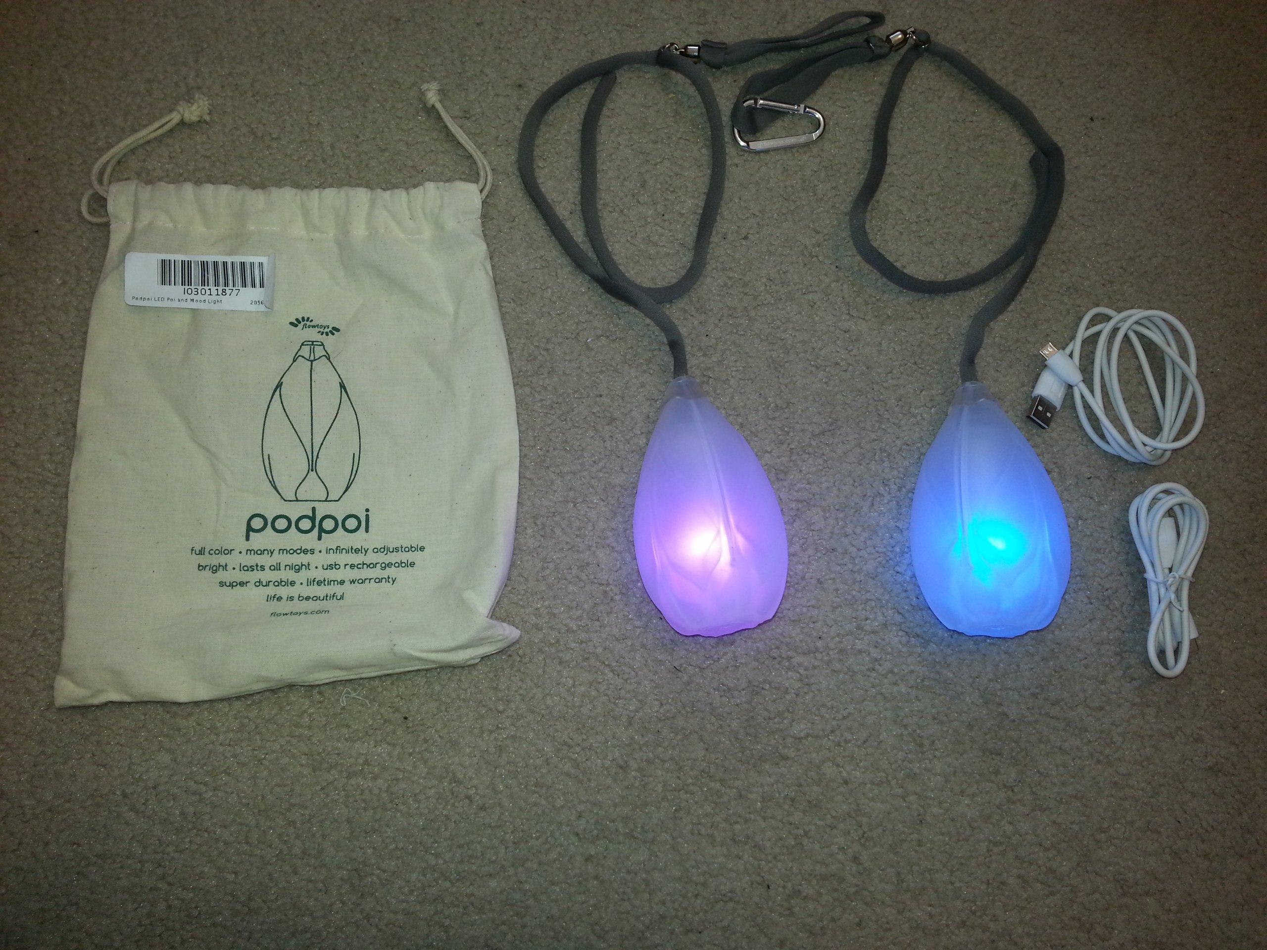 Podpoi LED Poi and Mood Light