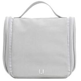 多機能防水化粧品袋、男性と女性の化粧品収納袋のための多機能大容量防水折りたたみウォッシュバッグ (Color : Gray)