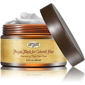 Color Safe Deep Conditioner Mask - Thick Coarse Hair Care - Moroccan Argan Mask 8.5 oz - Dry & Damaged Color Treated Color Saving Long Lasting Hair Conditioning