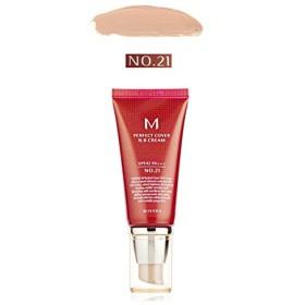 [ミシャ] MISSHA [M パーフェクト カバー BBクリーム 21号 / 23号50ml] (M Perfect Cover BB cream 21号 / 23号 50ml) SPF42 PA+++ (Type1 : No.21 Light Beige) [並行輸入品]