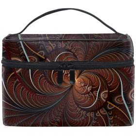 フラクタル抽象アートメイクボックス コスメ収納 トラベルバッグ 化粧 バッグ 高品質