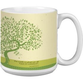 Tree-Free Greetings Extra Large 590ml Ceramic Coffee Mug, Earth Tree Themed Inspiring Quote Art (XM29590)