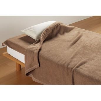 セミダブル (洗えるブラウンカシミヤ掛け毛布)ブラウン
