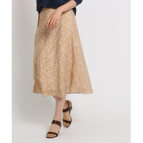 INDIVI(インディヴィ) [S]プリントAラインフレアマキシスカート