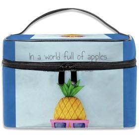 リンゴ いっぱい 世界 パイナップル 眼鏡 化粧ポーチ メイクポーチ コスメバッグ 収納 雑貨大容量 小物入れ 旅行用