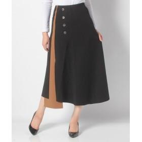 【15%OFF】 アクアガレージ バイカラーアシンメトリデザインスカート レディース black one size 【aquagarage】 【タイムセール開催中】
