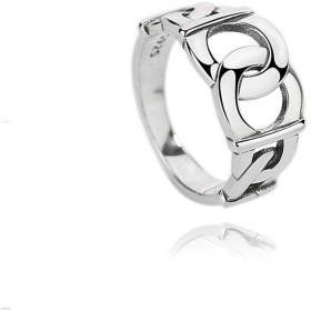 Aooaz 婚約指輪 シルバー ホロー シルバー 記念日 リング レディース