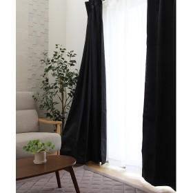防炎 1級遮光 ドレープカーテン『 サンカット 』【UNI】ブラック100×185cm(#9801306)2枚組(既製品) 選べる12色、15サイズ展開
