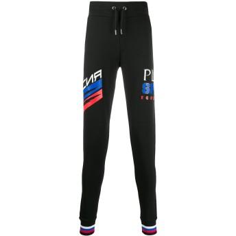 Plein Sport ロゴ トラックパンツ - ブラック