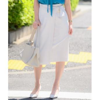 トーナル ストレッチツイルアシメタイトスカート レディース グレー 36 【TONAL】