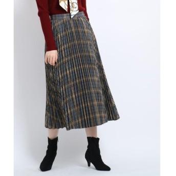 AG by aquagirl / エージー バイ アクアガール チェック柄プリーツミモレ丈スカート