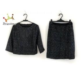 アンタイトル UNTITLED スカートセットアップ サイズ2 M レディース 黒×白×グレー 新着 20190910【人気】