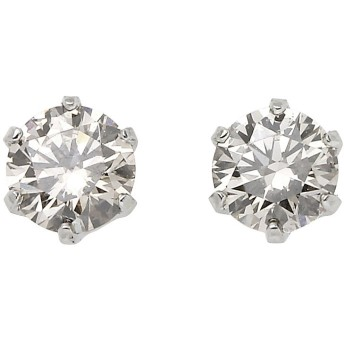 プラチナ ダイヤモンド ピアス 0.3カラット PT 0.3ct スタッドピアス [45-297120]