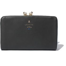 ランバンオンブルー シャペル口金2つ折り財布 レディース ブラック F 【LANVIN en Bleu】