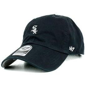 47BRAND ローキャップ ベースボールキャップ MLB シカゴ ホワイトソックス CLEAN UP ミニロゴ 黒 Black ブラック メンズ レディース