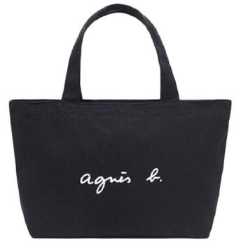 Agnes b. VOYAGE アニエスベー ボヤージュ トートバッグ レディース 大容量 キャンバスバッグ マザーズバッグ 軽量 (ブラック)