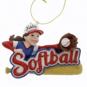 Girl Softball Sports Player Christmas Tree Ornament by Kurt Adler