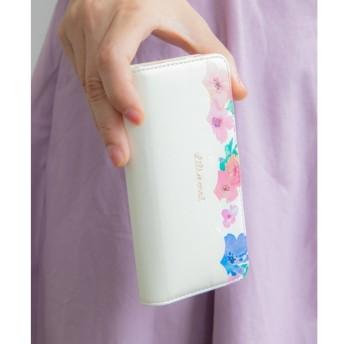 【ボン・フェット/Bonnes Fetes】 フラワースカラップ2・フラップ ケース iPhone8.7.6s.6/Lilietmoi