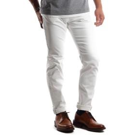 NO BRAND 32サイズ ホワイト ストレッチデニム メンズ ストレート 5ポケットパンツ メンズ