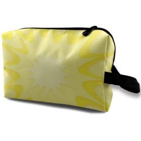 Yellow Explosion 化粧品バッグトラベル化粧品バッグ大容量収納バッグウォッシュバッグ文房具バッグ小物収納バッグビジネストラベル