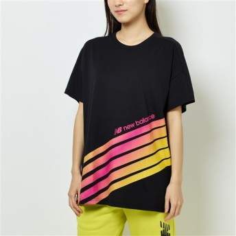 (NB公式)【ログイン購入で最大8%ポイント還元】 ウイメンズ スポーツスタイルオプティクスTシャツ (ブラック) ライフスタイル ウェア / トップス ニューバランス newbalance