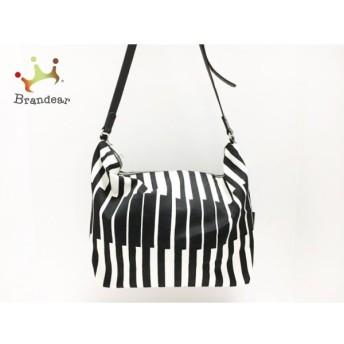 マリメッコ marimekko ショルダーバッグ 白×黒 キャンバス 新着 20190911