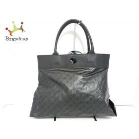 ゲラルディーニ GHERARDINI トートバッグ 美品 黒 PVC(塩化ビニール)×レザー 新着 20190910