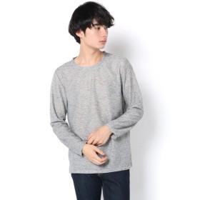 COLONY 2139(COLONY 2139) メンズ 杢リブスリット入長袖Tシャツ ホワイト