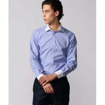 トゥモローランド 120/2コットンブロード クレリック ワイドカラー ドレスシャツ NEW WIDE 3 メンズ 68ネイビー系 37 【TOMORROWLAND】