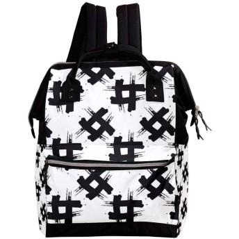 Anmumi リュックサック リュック 学生 レディース 幾何 メンズ 大容量 マザーズバッグ がま口 バックパック 通勤通学 デイバッグ かわいい おしゃれ