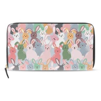 財布 小銭入れ 日本製ウサギの漫画ウォレット ファスナー メンズ 女性 男女兼用 カード収納 小銭入れ プレゼント