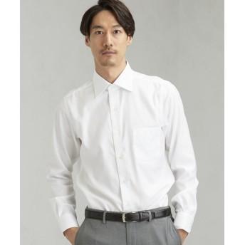 グリーンレーベルリラクシング EASY IRON ロイヤルツイル ワイドカラー ドレスシャツ<機能性 / イージーアイロン> メンズ WHITE 40cm 【green label relaxing】