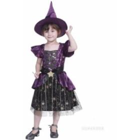 ハロウィン halloween コスプレ 仮装 衣装 子供 ウィッチ 巫女 悪魔 魔女 コスチューム ハロウィンパーティー クリスマス 魔女 女の子 ワ