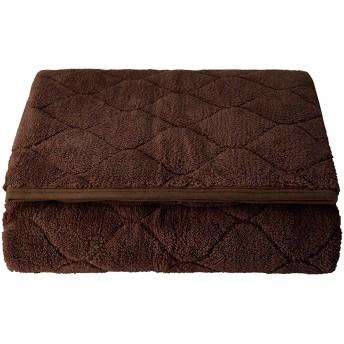 (セシール)cecile パッドシーツ ふわふわ毛布生地で作ったマイクロパッドシーツ コーヒーブラウン セミダブル CZ-659 CZ-659
