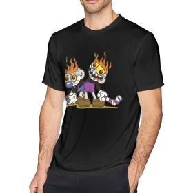 ベーシックTシャツ メンズ 半袖 コットン カップヘッド Cuphead シンプル カジュアル ショートスリーブカ クルーネック 快適 吸汗速乾 夏