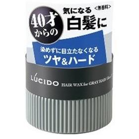 「マンダム」 ルシード 白髪用ワックス グロス&ハード 80g 「化粧品」