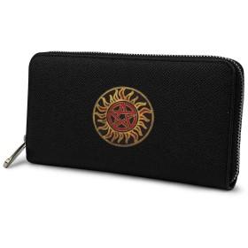 Anti-Posession Symbol レディース メンズ長財布 型押し 大容量多機能 PUレザー カード12枚収納 小銭入れ 財布 取り出しやすい携帯便利