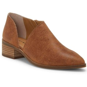 [ラッキーブランド] レディース ブーツ&レインブーツ Kenri Leather Block Heel Booties [並行輸入品]
