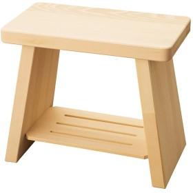 ヒバ・新型風呂椅子 [ 約35 x 20 x H30cm ] 【 浴場用品 】 | 温泉 銭湯 ホテル 旅館 木製 お風呂 入浴