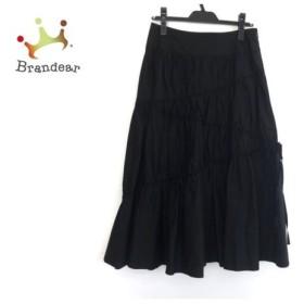 レキップ ヨシエイナバ ロングスカート サイズ9 M レディース 美品 黒 リボン 新着 20190911