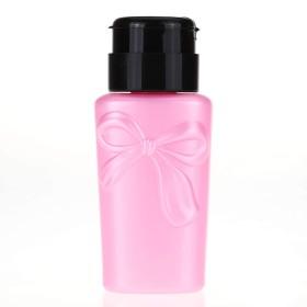 230ミリリットルネイルアート耐圧瓶UVジェルポリッシュ、液体アルコールストレージ押してポンプディスペンサー空のボトルマニキュアツールを削除する230ミリリットル、ピンク、プラスチック