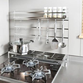 FRAMES&SONS(フレームズアンドサンズ)/18ー8ステンレス キッチンツールハンガー(幅60用)シルバー
