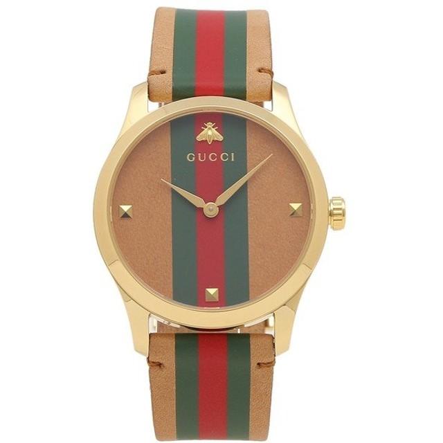 【返品OK】 グッチ 腕時計 レディース メンズ GUCCI YA1264077 ブラウン