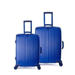DF travel - 升級版20+24吋描繪足跡環遊全球硬殼行李箱-共5色