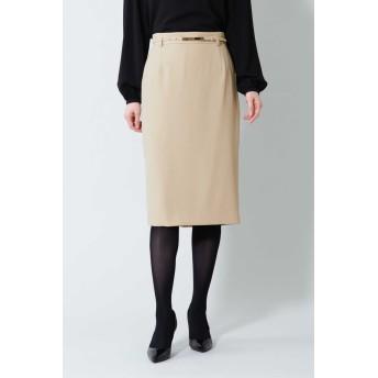 BOSCH 《B ability》バックサテンジョーゼットセットアップスカート ひざ丈スカート,ベージュ