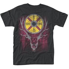 Vikings T Shirt Stag TV Show 新しい 公式 メンズ ブラック