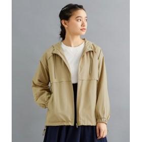 (merlot/メルロー)裾絞りデザイン切り替しパーカー/レディース ベージュ