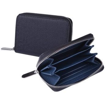 L.Z.H メンズ 財布 柔らかい 大容量 盗難防止 高級 多機能 ビジネス 軽量 シンプル ウォレット (Color : Blue, Size : S)