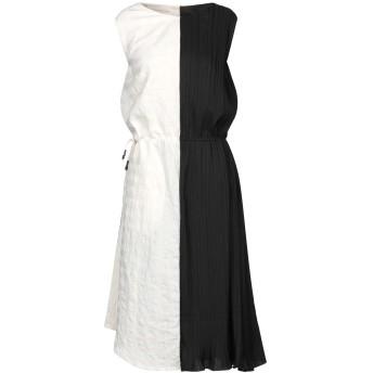 《セール開催中》NOSTRASANTISSIMA レディース 7分丈ワンピース・ドレス ブラック 38 コットン 50% / 麻 50% / ポリエステル