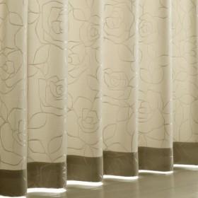 〔形状記憶付き〕光沢のあるバラがエレガントなカーテン - セシール ■カラー:アイボリー ブルーグリーン ■サイズ:幅100×丈90(2枚組),幅100×丈110(2枚組),幅100×丈120(2枚組),幅100×丈135(2枚組),幅100×丈150(2枚組),幅100×丈170(2枚組),幅100×丈178(2枚組),幅100×丈185(2枚組),幅100×丈190(2枚組),幅100×丈195(2枚組),幅100×丈200(2枚組),幅100×丈205(2枚組),幅100×丈210(2枚組),幅10